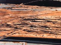 Damage to wood caused by termites